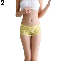 Wholesale See Through Panties - Women Sexy Lace See Through Briefs Panties Bowknot Thongs Underwear Sleepwear