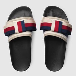 Wholesale women flat platform sandals - wholesale luxury Slippers Flip Flops Rihanna ace women sandals Non-slip designer Slippers flip flops slipper Booties size 35-40