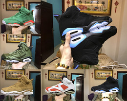 Wholesale M Live - AAA+ Quality air retro 6 men Basketball shoes UNC Gatorade Wheat Saturday Night Live green suede sport trainer sneaker US 5.5-13