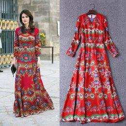 6eb4f58cdec4 HIGH QUALITY Designer Runway Celebrity Rose Flowers Print Maxi Dresses  Autumn Women Long Sleeve Floor Length OL Work Dress Princess Kate