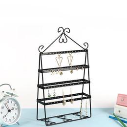 Wholesale Hop Shops - Shop Home Desk Unique Decoration Shelf Earrings Necklace Ornaments Hanger European Style Creative Metal Jewellery Rack New Arrival 25md Z