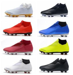 football futbol taquets pas cher Promotion 2018 Phantom Vision Elite DF FG Chaussures de Football Pas Cher Crampons de football Crampons Bottes de Formation Zapatos Botas de Futbol Scarpe da Calcio