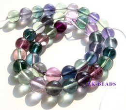 "Wholesale Grade Aa - Wholesale Natural Genuine AA Grade Rainbow Mix Color Green Purple Fluorite Round Loose Stone Jewelry Beads 3-18mm 15"" 1347"