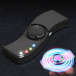 encendedores de oro Rebajas LED mano Spinner Aleación de aluminio Cargador USB 3 en 1 funciones Fidget Spinner Cigarrillo encendedor de carga USB Gyro Finger Tip Cubo