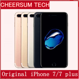Wholesale Mobile Phone Videos - Red iphone 7 plus Cellphone100% Original Apple iPhone 7  7 plus ios10 Quad Core 2GB RAM 32GB 128GB 256GB ROM 12.0MP 4K Video 4G Mobile phone