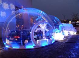 2019 grossistas infláveis Atacado- Transparente bolha inflável lodge tenda / gigante bolha inflável tenda globo / camping inflável tenda bolha de neve desconto grossistas infláveis