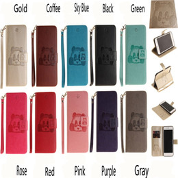 Wholesale Red Panda Iphone Case - 2018 New for iPhone X Embossed 3D Panda PU iPhone se   5S   5G Leather Case iphone Touch 5   Touch 6 Card Case