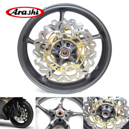 r6 yamaha part UK - Arashi For Yamaha YZF R6 2006 - 2012 Front Wheel Rim Brake Disc Disk Rotor Motorcycle Parts 2007 2008 2009 2010 2011 YZF-R1 YZF-R6