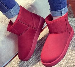 Wholesale Cheap Low Heel Boots - 2018 snow boots fur winter warm women cotton boots thick low to help the new Korean version of the cheap 36-40