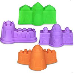 Wholesale Kids Plastic Tools - 1set Castle Space Sand Mold House Sandcastle Model Environmental Plastic Plasticine Tool For Kids Intelligence toys Play Beach Clay 4tq Z