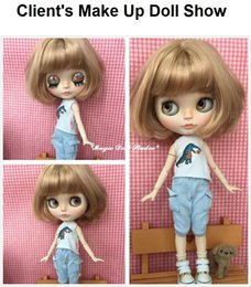 Wholesale Nude Dolls - [NBL160] 2017 New Free Shipping Blyth Doll # Short Blond Bob Hair Nude Blyth Doll for Retail NeoBlythe Azone for Retail