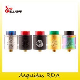 Wholesale Adapter Atomizer - Authentic Hellvape Aequitas RDA Tank 24mm Diameter Golden Hex BF Pin Atomizer For 510 Adapter 810 Drip Tips 100% Original 2273002