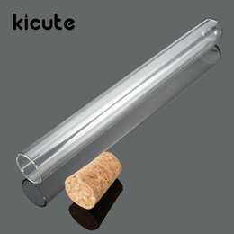 Wholesale Promotion Test - Wholesale- Kicute 10pcs set Best Promotion 20X200mm Lab Glass Test Tube With Cork Stoppers Laboratory Lab School Educational Stationery