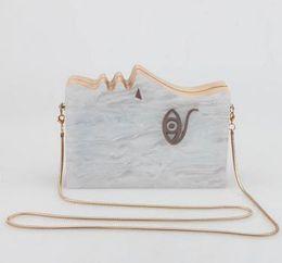 Wholesale party hard cover - 2017 New Women's Acrylic Clutch Bag Fashion Eye Design Party Evening Bags Wood Frame Hard Box Day Clutch Women Handbag B528