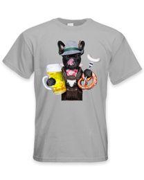 Французский бульдог баварский стиль пива мужская смешно Pet Bull Dog футболка мужчины черный с коротким рукавом хлопок хип-хоп футболка печати тройник от