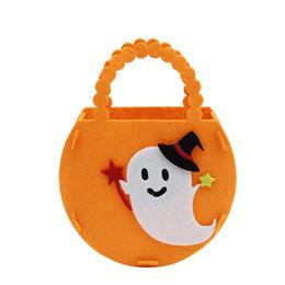 sacs à sucre Promotion Halloween sac en tissu non tissé fait à la main sac de citrouille maternelle enfants mignons matériaux faits à la main Europe et Amérique