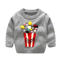Wholesale Infant Girl Cardigans - Xirubaby 2017 Autumn Winter Baby Boy Girls Sweater Infant Boy Wool Thick Cartoon Vintage Knitted Sweater Newborn Girls Cardigan