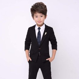 new men formal pant style Coupons - 2018 New Arrival Black Boy Suit 2Pieces(Jakcet+Pant+Tie) Costume Homme Kid Blazer Suit For Wedding Prom Formal Classic Style 726