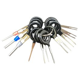 Wholesale Car Connector Pin - 11Pcs Set Terminal Removal Tools Car Electrical Wiring Crimp Connector Pin Extractor Kit Back Needle Remove Tool Set