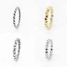 Wholesale Wholesale Stackable Rings - whole sale100% Authentic S925 Sterling Silver 5 Style Stackable Party Rings For Women Compatible with Original European Jewelry Fine Gifts
