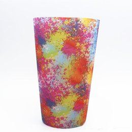 Wholesale Chiristmas Decoration - wholesales Silicone Stemless Wine Glass camouflage Beer Mug Outdoor Cup Glass Wine Glass Recyclable colorful Chiristmas Party Drinking Cups