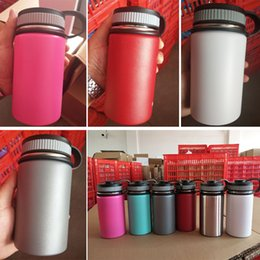 Wholesale stainless steel thermal bottle - 12oz Vacuum Water bottle Insulated 304 Stainless Steel Water Bottle Wide Mouth Travel Water Bottles With Filp Lids Cup HH7-1160A