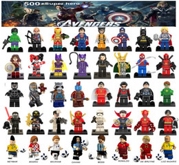Deutschland Minifiguren Superhelden Rächer Ironman Deadpool Logan Superman Batman Weltcup Messi Neymar Ronaldo Mini Figuren Bausteine Versorgung
