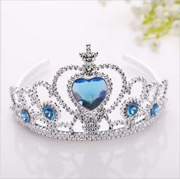 2019 ornements de princesse Glace et neige enfants couronne rouge couronne princesse coiffe cheveux ornements tête cerceau plastique cerceau bijoux magique ornements de princesse pas cher