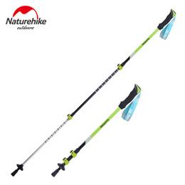Wholesale Carbon Canes - Wholesale-Naturehike Aluminum alloy walking sticks camping hiking Alpenstocks Trekking Pole Ultralight Hiking Cane Couple 2 colors