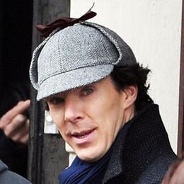 Boinas de alta qualidade para mulheres on-line-Sherlock Holmes Boina Hat Deerstalker Homens New Boinas Bowknot Tampão Chato Retro Vintage Earflaps Chapéu Das Mulheres do Menino Hombre de Alta Qualidade