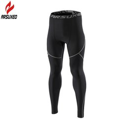 acc9fcefdd7e2 Arsuxeo Winter Warm Thermal Fleece Running Tights Men Gym Fitness Crossfit  Football Training Sport Leggings Compression Pants