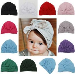 pedaços de cabelo moda Desconto Designer de moda Bebê Headband Banda de Cabelo Coreano Popular Hairbows Sólidos Bonés Crianças Acessórios Fascinador Peças de Cabeça Recém-nascido Presente Para Venda