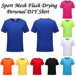 Asciugatrice flash t shirt online-50 pz / lotto Man Sport Jersey Camicie Estate Maglia Flash Asciugatura Personal Logo Team Stampa Uomo Camicie Costumi Donna T-Shirt Abiti Su Misura