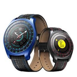 teléfonos firefox Rebajas Reloj elegante de los hombres de V10 con la cámara Reloj de pulsera de la tarjeta SIM del monitor de ritmo cardíaco de la Smartwatch de Bluetooth Smartwatch para el teléfono de Apple iphone Android