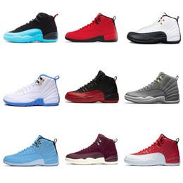 new style 92d7a a8746 Nike Air Jordan 12 Di alta qualità 12 12 s OVO bianco palestra rosso scuro  grigio scarpe da basket uomo donna taxi blu suede gioco di influenza  sneakers ...