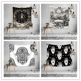 prints wall hangings Promo Codes - Euramerican divination astrology tapestry bedroom wall hanging decoration printing tablecloth bed sheet yoga mat beach towel party backdrop