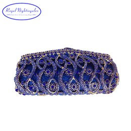 Africa Bridal Hard Case Metal Box Clutch Purse Night Clutch Bags for Women  Wedding Prom Dinner Party Luxury Crystal Evening Bags 244233fc1d73