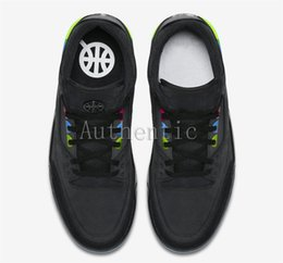 Newest 3 Quai 54 Black Electric Green Infrared 23 Basketball Shoes For Men cb537fba7