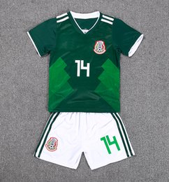 Wholesale kids shirts sale - 2018 New Sale World Cup 8 H.lozano Kids Kit Mexico Soccer Jersey Home 10 G.dossantos 14 Chicharito Shirt Children Custom Football Uniform