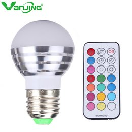 Wholesale Spot Led Ir - 5W RGBW LED Bulb E27 Dimmable LED Spot Light RGB White Lamp Spotlight with IR Remote Controller
