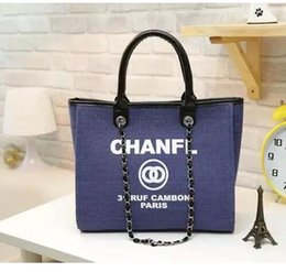 Wholesale Zipper Watch - 2018 fashion Famous fashion brand name women handbags Canvas Shoulder bag chains of large capacity bags brand C bag Luxury watches TAG