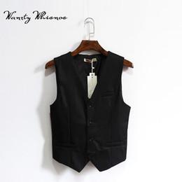 Wholesale Waistcoat For Men Styles - Sloid Black England Style Brand Men Vest Autumn Spring Formal Waistcoat For Men Slim Fit Fashion Men's Business Vest