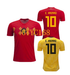 Thailand Quality 2018 World Cup Belgium Home away red Yellow top LUKAKU  FELLAINI HAZARD KOMPANY DE BRUYNE MERTENS Soccer Jersey football kit 863404735