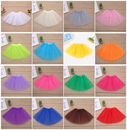 Wholesale Multicolor Tutus - Multicolor Girls Classic Elastic Shining Tutu skirt kids Cute Bubble Skirt Performance princess lace skirt Ballet pettiskirt A08