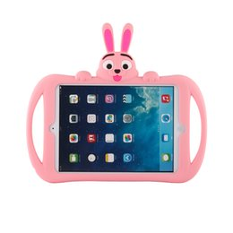 Wholesale Ipad Fall - wholesale Ipad234 silicon protetion silicon case with stand Anti-fall protection cartoon case shipping free