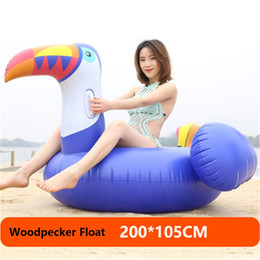 Wholesale Inflatable Ride Animals - Woodpecker Inflatable Floats Inflatable Unicorn Flamingo Pool Toys Inflatable Giant Swan Swimming Pool Ride-on Floats Pool Water Toy b1543