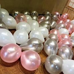 Wholesale Dark Blue Balloons - 12 inch thick pearl balloons wedding arrangement wedding room decoration birthday party wedding supplies