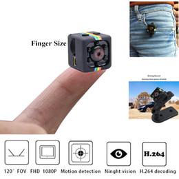 verstecke kamerataschen Rabatt Mini Pro 1080P bewegliche kleine Nanny Cam mit Nachtsicht-Bewegungs-Sensor Perfekte Innen Sicherheits-Überwachungskamera für Haus