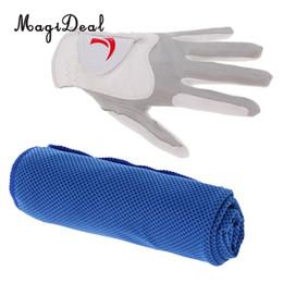 MagiDeal Gants de golf pour homme à main gauche L Blanc + Serviette de refroidissement instantanée bleu ? partir de fabricateur
