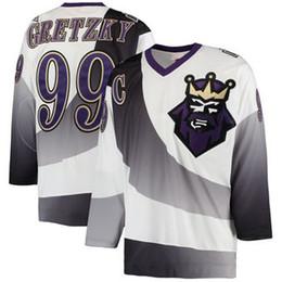 Wholesale Custom Nhl Hockey Jerseys - 2018 nhl hockey jerseys cheap custom Men's Los Angeles Kings Wayne Gretzky Mitchell Ness White Throwback Alternate Authentic Vintage Jersey